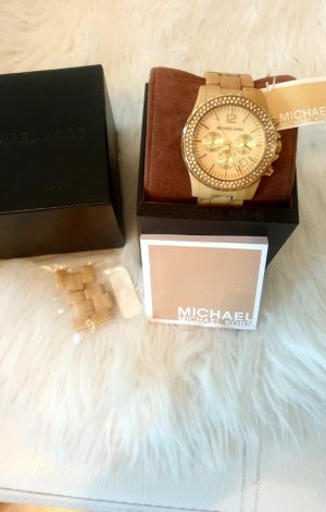 Michael Kors Watch With Metal Strap cream-nude