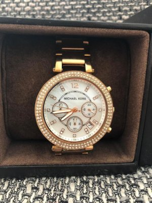 Michael Kors Watch With Metal Strap rose-gold-coloured metal