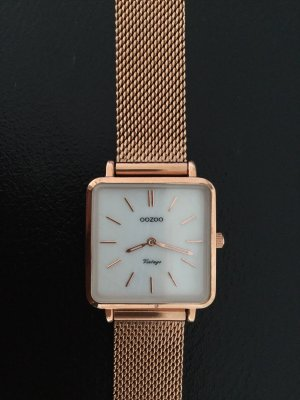 Oozoo Watch With Metal Strap rose-gold-coloured-gold-colored
