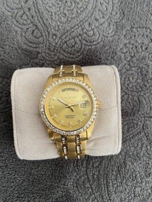 Yves Camani Reloj con pulsera metálica color oro