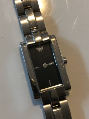 Armani Orologio con cinturino di metallo argento-grigio scuro