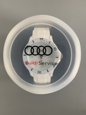 AUDI Montre analogue blanc