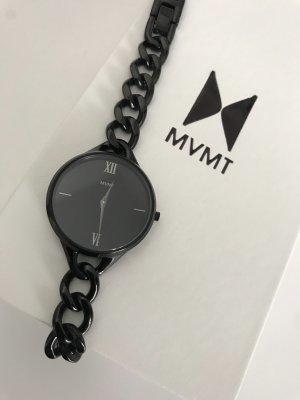 MVMT Horloge met metalen riempje zwart