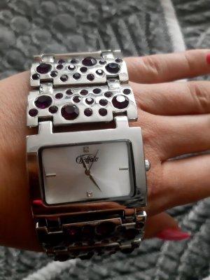 Buffalo Watch With Metal Strap lilac-dark violet