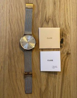 Cluse Analoog horloge zilver-roségoud