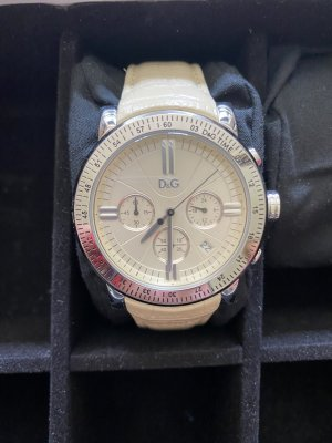 Dolce & Gabanna Watch With Leather Strap cream
