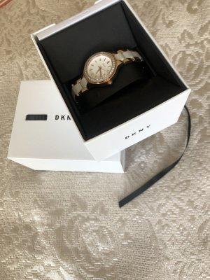 DKNY Orologio analogico bianco-oro