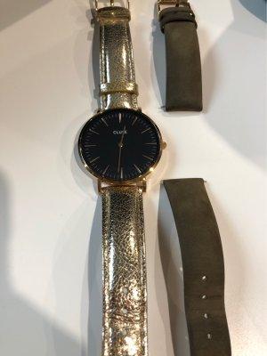Uhr Damen Gold schwarz