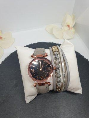 uhr Damenuhr Set Armband Leder