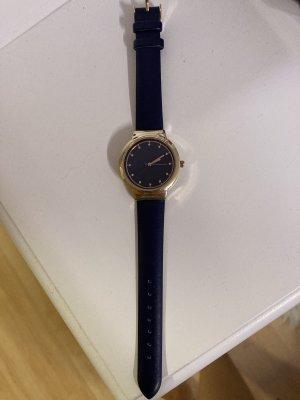 Uhr dunkelblau/gold LBVYR
