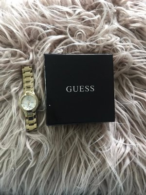 Guess Watch With Metal Strap gold-colored