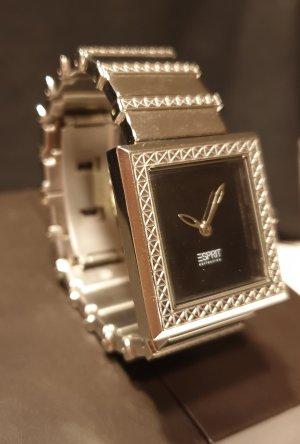 Esprit Zegarek z metalowym paskiem czarny-srebrny