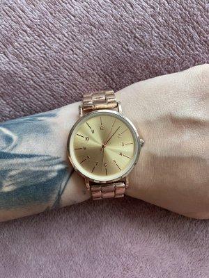primarkt Zegarek z metalowym paskiem w kolorze różowego złota