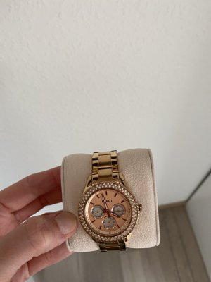 Fossil Analog Watch rose-gold-coloured