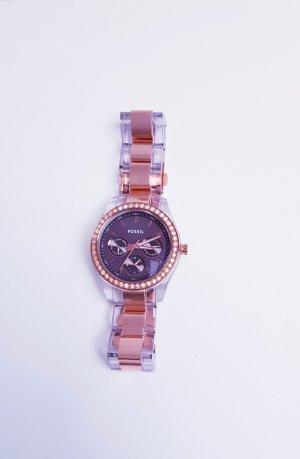 Fossil Montre analogue bronze-or rose