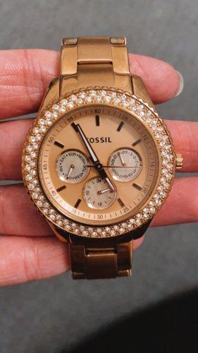 Fossil Montre avec bracelet métallique or rose-doré
