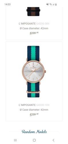 Reloj con pulsera de cuero multicolor