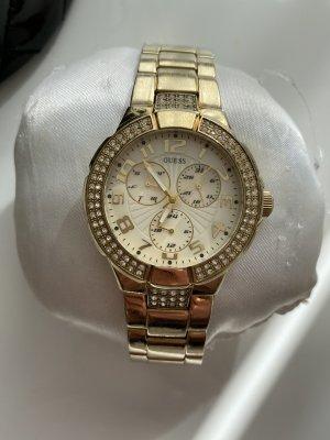 Guess Analoog horloge goud-wit