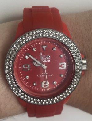 Ice watch Zegarek automatyczny srebrny-jasnoczerwony