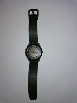 Back Digital Watch dark green