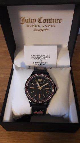 Juicy Couture Montre avec bracelet en cuir noir