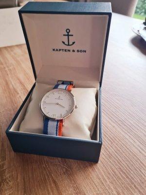 Kapten & Son Analoog horloge oranje-blauw