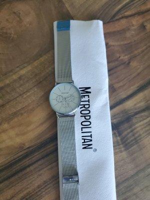 Metropolitan Horloge met metalen riempje zilver