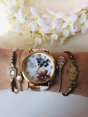 Uhr mit Blumen Neu