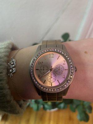 Uhr mit Klemmverschluss Roségold OneSize mit Strass