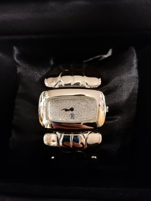 Roberto Cavalli Watch With Metal Strap silver-colored