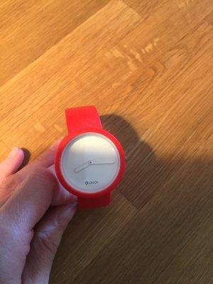 O'clock Zegarek analogowy czerwony-biały