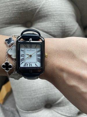 Uhr Schwarz Christian Lacroix Silber