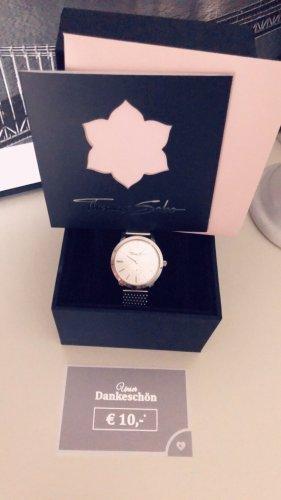 Thomas Sabo Horloge met metalen riempje zilver Edelstaal