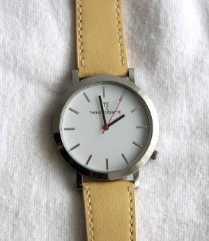 Uhr Threadetquette silber mit Armband