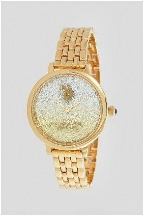 U.s. polo assn. Analoog horloge goud