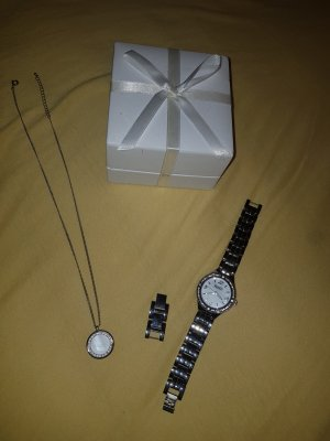 FIRETTI Watch With Metal Strap silver-colored