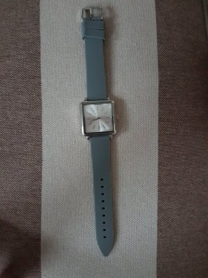 Aeropostale Watch With Leather Strap silver-colored-grey
