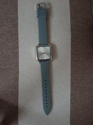 Aeropostale Horloge met lederen riempje zilver-grijs