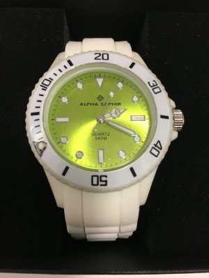 Alpha Saphir Zegarek biały