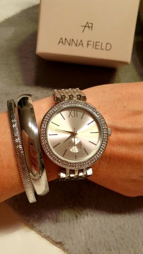 Anna Field Watch With Metal Strap silver-colored