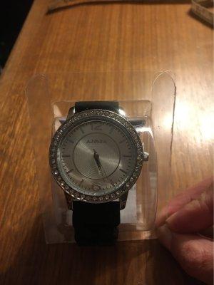 Azoza Reloj digital negro-color plata