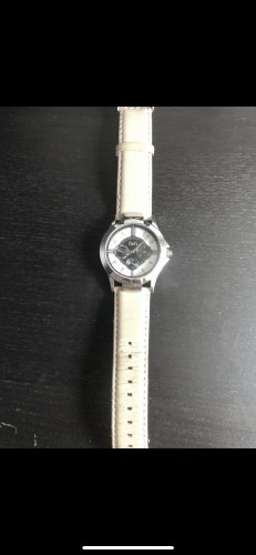 Dolce & Gabbana Watch With Leather Strap cream-silver-colored