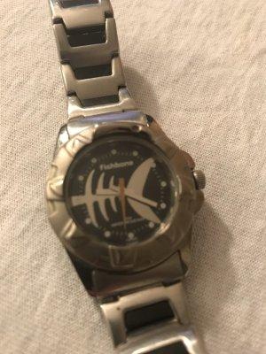 Fishbone Reloj con pulsera metálica color plata-negro