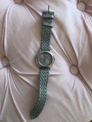 Impressionen Montre avec bracelet en cuir gris clair