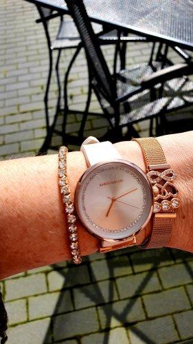 KAREN MILLEN Watch With Leather Strap natural white
