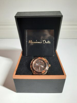Massimo Dutti Watch With Metal Strap multicolored