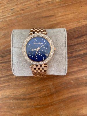 Michael Kors Horloge met metalen riempje blauw