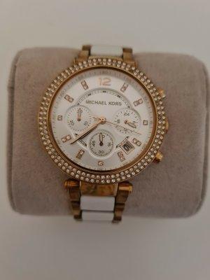 Michael Kors Reloj con pulsera metálica blanco-color rosa dorado