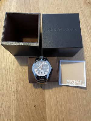 Uhr von Michael Kors, Silber, mit Rechnung