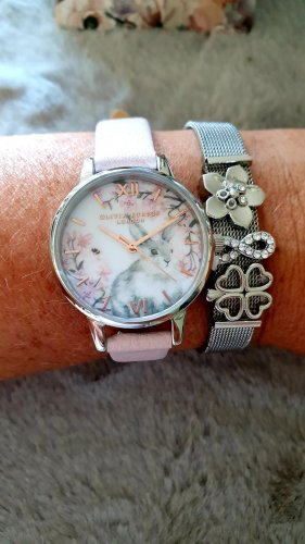 Olivia Burton Watch With Leather Strap pink-light pink
